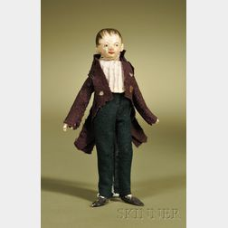Late 18th Century Wooden Gentleman