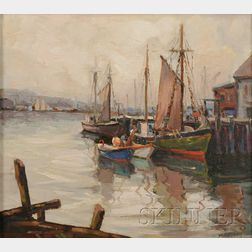 A. N. Davis (American, 20th Century)      Cape Ann Docks.