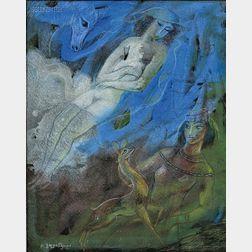 Lado Gudiashvili (Georgian, 1896-1980)      Fairytale
