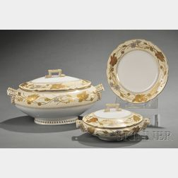 Extensive French Porcelain Dinner Service
