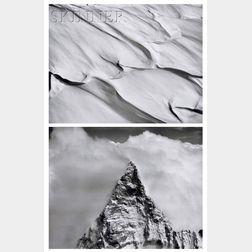 Bradford Washburn (American, 1910-2007)      Two Photographs: Summit of the Matterhorn