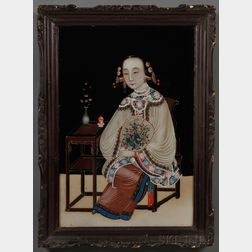 Chinese Export School, 19th Century      Portrait of a Young Woman.