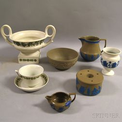 Eight Wedgwood Dry Body Items