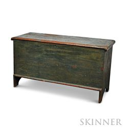 Blue-painted Six-board Chest