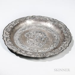 Spanish or Portuguese Colonial Silver Charger