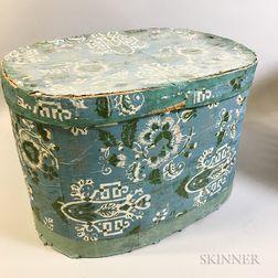 Large Wallpaper-covered Bandbox