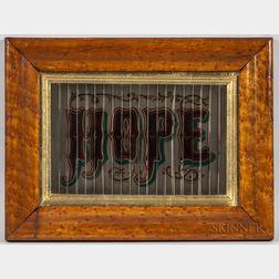 """""""Faith/Hope/Charity"""" Polychrome Painted Framed Optical Sign"""
