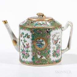 Canton Export Rose Medallion Teapot