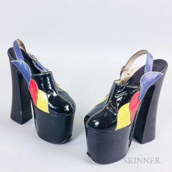 Vintage Patent Leather Platform Shoes