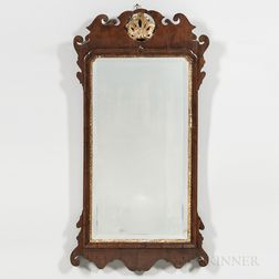 George III Mahogany-veneered Mirror