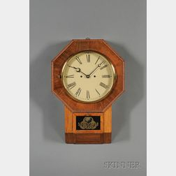 Rosewood Drop Octagon 30-Day Fusee Wall Clock by Atkins Clock Company