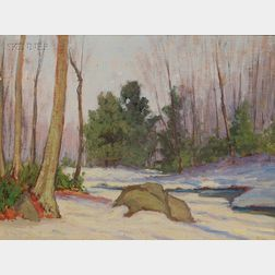 Attributed to Henry Hobart Nichols (American, 1869-1962)      Winter View