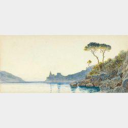 William Stanley Haseltine (American, 1835-1900)      Mediterranean Coast