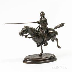 Cast Bronze Sculpture of a Knight