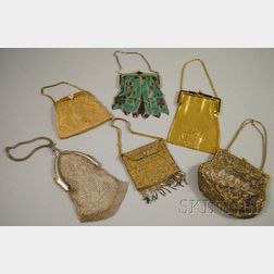 Six Antique Beaded and Mesh Purses