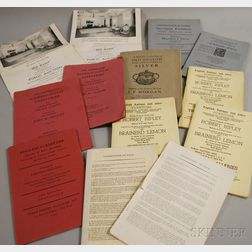 Nine Antiques Auction Catalogs from the Late 1940s
