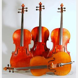 Four Child's Mittenwald Violoncellos