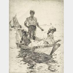 Frank Weston Benson (American, 1862-1951)      The Fishermen