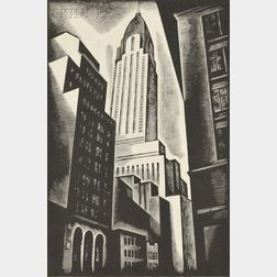 Howard Norton Cook (American, 1901-1980)      Chrysler Building