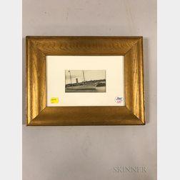 Framed Photograph of the Presidential Yacht Mayflower   with President Warren Harding