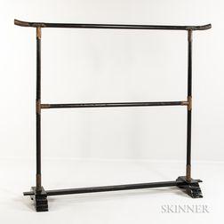 Lacquered Wood Kimono Stand