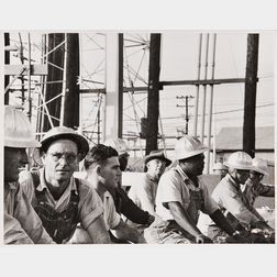 Robert Frank (Swiss, b. 1924)      Workers in Hard Hats