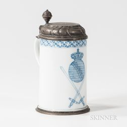 Meissen Porcelain .800 Silver-mounted Stein