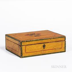 Yellow-painted Pine Box