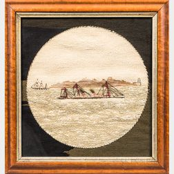 Woolwork Picture of a Steamship
