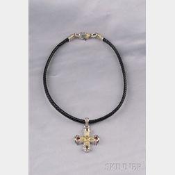 18kt Gold and Sterling Silver Gem-set Necklace, Judith Ripka