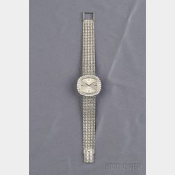 """Lady's 18kt White Gold and Diamond """"Orchid"""" Wristwatch, Rolex"""