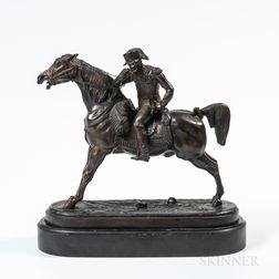 Bronze Figure of a Military Officer on Horseback