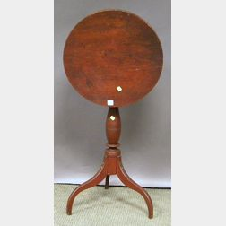 Federal Pine and Maple Tilt-top Candlestand