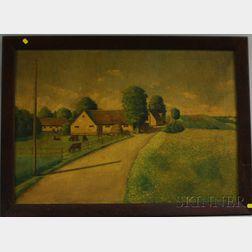 Danish/American School, 20th Century      Country Farm Scene.