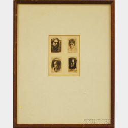 William Joseph Patterson (American, b. 1941)      Four Artists