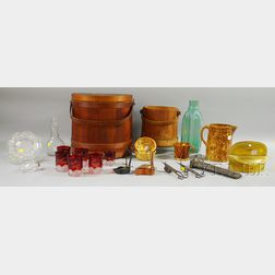 Group of Glass, Pottery, and Metal Americana Items