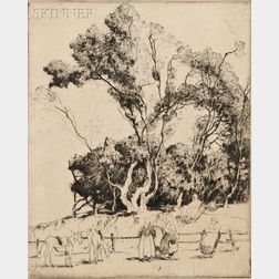 Alfred Heber Hutty (American, 1877-1954)      Gossips, Ile de Noirmoutier