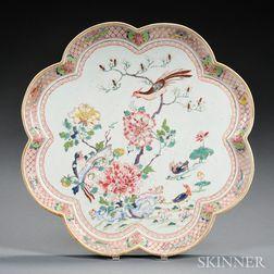 Famille Rose Porcelain Tray