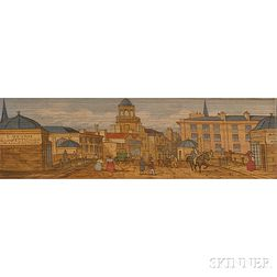 Fore-edge Paintings, London Subjects: Covent Garden; Cheapside, the Poultry & Bucklebury; Westminster Abbey and Big Ben; the Engrance t