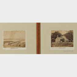 Two Framed Alexander Gardner Albumen Civil War Photos