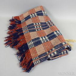 Tricolor Woven Coverlet