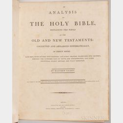 Talbot, Matthew (fl. circa 1800) An Analysis of the Holy Bible.