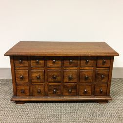 Small Eighteen-drawer Hardwood Table Cabinet