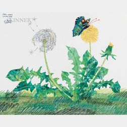 Eric Carle (American, b. 1929)      Dandelion and Butterfly