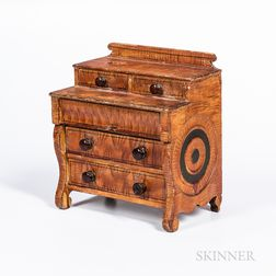Miniature Sponge-painted Classical Bureau