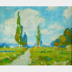 Charles Partridge Adams (American, 1858-1942)    Study: California Landscape