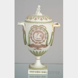 Wedgwood Three Color Jasper Zodiac Vase and Cover