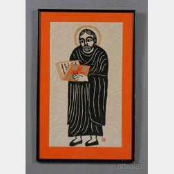School of Sadao Watanabe (Japanese, b. 1913)      Portrait of Saint John the Evangelist