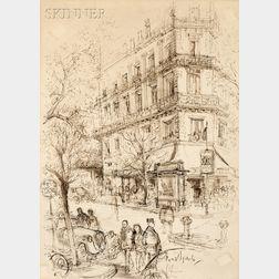 Ronald William Fordham Searle (British, 1920-2011)      Paris View