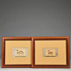 Two Erotic Composite Animal Miniature Paintings